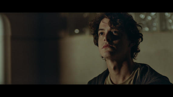 "Into The Dark -- ""All That We Destroy"" - A geneticist who fears that her son may be becoming a serial killer, creates a group of clones in an attempt to cure him of his psychopathic tendencies by allowing him to relive the murder of his first victim. (Israel Broussard), shown. (Photo by: Hulu)"