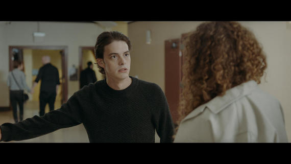 "Into The Dark -- ""All That We Destroy"" - A geneticist who fears that her son may be becoming a serial killer, creates a group of clones in an attempt to cure him of his psychopathic tendencies by allowing him to relive the murder of his first victim. (Israel Broussard) and Marissa (Dora Madison), shown. (Photo by: Hulu)"