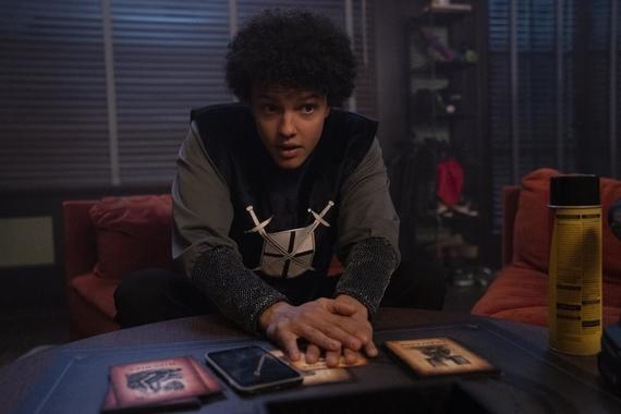 "Into The Dark -- ""Uncanny Annie"" - On Halloween night a group of college students get trapped in a mysterious board game that brings their darkest secrets and fears to life, where they must play to escape...and win to survive. Craig (Jacques Colimon), shown. (Photo by: Greg Gayne/Hulu)"