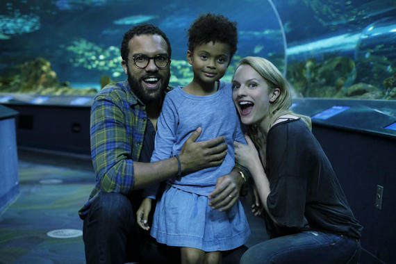 "The Handmaid's Tale -- ""Offred"" Episode 101 -- Offred, one the few fertile women known as Handmaids in the oppressive Republic of Gilead, struggles to survive as a reproductive surrogate for a powerful Commander and his resentful wife. Luke (O-T Fagbenle), from left, Hannah (Jordana Blake) and Offred (Elisabeth Moss), shown. (Photo by: George Kraychyk/Hulu)"