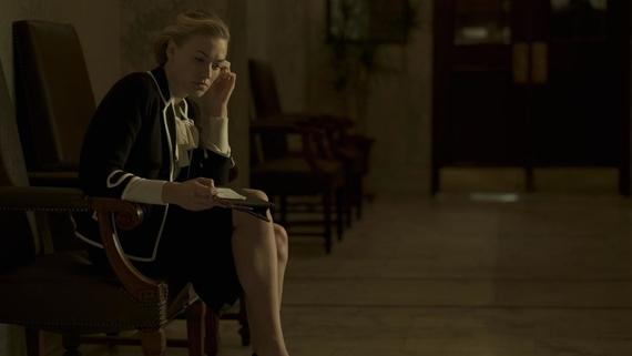 "The Handmaid's Tale -- ""A Woman's Place"" Episode 106 -- A Mexican Ambassador visiting Gilead questions Offred about her life as a Handmaid. Serena Joy reflects on her marriage and the role she once played in Gilead's inception. Serena Joy (Yvonne Strahovski), shown. (Photo by: George Kraychyk/Hulu)"