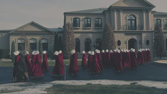"The Handmaid's Tale -- ""The Bridge"" Episode 109 -- Offred embarks on a dangerous mission for the resistance. Janine moves to a new posting. Serena Joy suspects the Commander's infidelity. (Photo by: George Kraychyk/Hulu)"