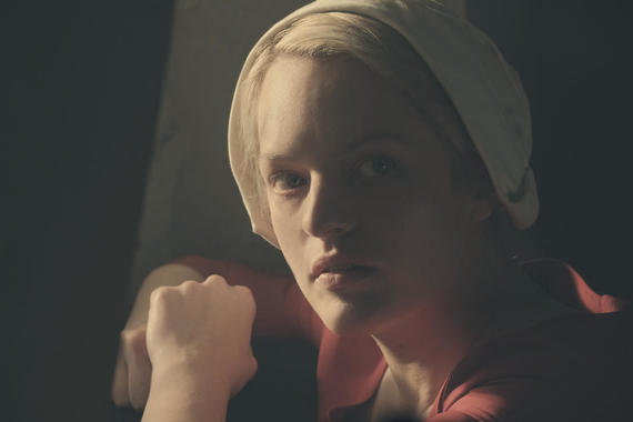 "The Handmaid's Tale -- ""Night"" -- Episode 110 -- Serena Joy confronts Offred and the Commander. Offred struggles with a complicated, life-changing revelation. The Handmaids face a brutal decision. Offred (Elisabeth Moss), shown. (Photo by: George Kraychyk/Hulu)"