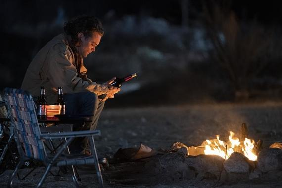 "Into The Dark -- ""They Come Knocking"" - After losing his wife to cancer, a father takes his two daughters on a road trip where he finds his family in the crosshairs of terrifying supernatural entities. Nathan (Clayne Crawford), shown. (Photo by: Greg Gayne/Hulu)"