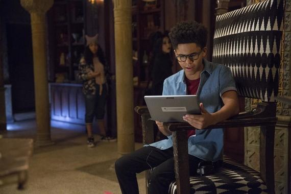"MARVEL'S RUNAWAYS -- ""Kingdom"" - Episode 105 - Just when Alex thought his relationship with his parents couldn't be more strained, an old friend from Geoffrey's past resurfaces, and Alex discovers long-buried secrets about his dad. After their not-so-fearless leader is taken, our kids spring into action to save him. And as they scramble to get Alex back, the Runaways begin to experiment with their own untapped power in order to step in to save their friend. Alex Wilder (Rhenzy Feliz), shown. (Photo by: Patrick Wymore/Hulu)"