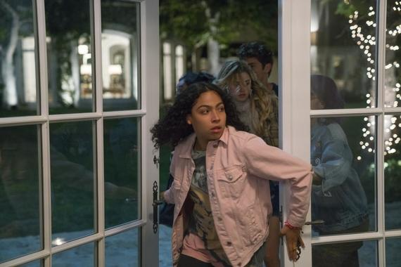 "MARVEL'S RUNAWAYS - ""Rewind"" - Episode 102 - A retelling of 101, as seen from the parents' perspective. Everyone's on edge, but after tonight, should all go as planned, they won't have to worry about their obligations again. Molly Hernandez (Allegra Acosta), shown. (Photo by: Greg Lewis/Hulu)"