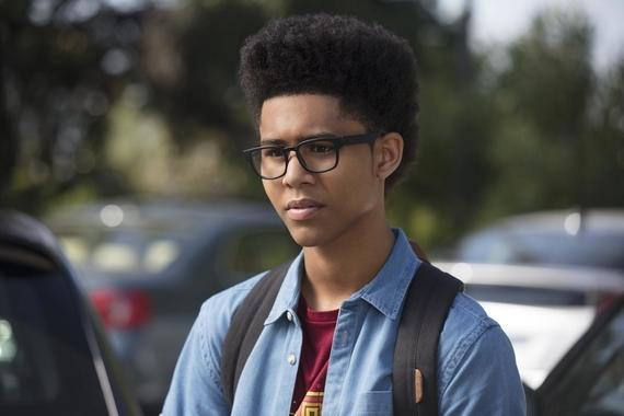 "MARVEL'S RUNAWAYS -- ""Fifteen"" - Episode 104 - The parents try to find a solution to PRIDE's problem, and the kids grapple with a new discovery that yields more questions than answers. Alex Wilder (Rhenzy Feliz), shown. (Photo by: Greg Lewis/Hulu)"