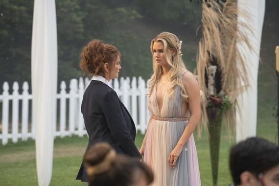 "Runaways -- ""Smoke & Mirrors"" - Episode 301 -- The Runaways spring a trap to rescue their missing friends from Jonah and his family. Stacey (Brigid Brannagh) and Karolina (Virginia Gardner), shown. (Photo by: Michael Desmond/Hulu)"