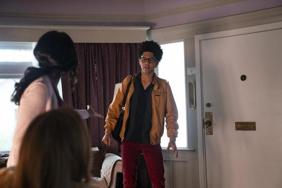"Runaways -- ""Rite of Thunder"" - Episode 304 -- The kids search for Leslie and Alien Alex. Meanwhile, Leslie gives birth and Xavin fulfills her prophecy. The kids go head to head in a final battle against the aliens. Alex (Rhenzy Feliz), shown. (Photo by: Michael Desmond/Hulu)"
