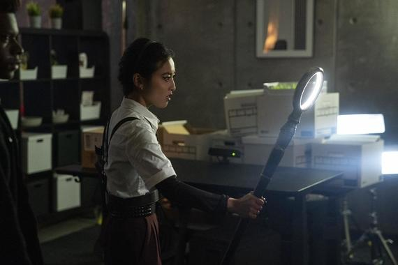 "Runaways -- ""Devil's Torture Chamber"" - Episode 308 -- Nico convinces Cloak and Dagger to take the Runaways to the Dark Dimension to save Alex, but it's Alex who ends up saving them all. Nico (Lyrica Okano), shown. (Photo by: Michael Desmond/Hulu)"