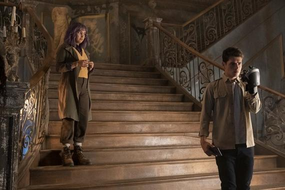 "Runaways -- ""The Broken Circle"" - Episode 309 -- The remaining PRIDE members unite with the kids to foil Morgan's plans, but as a battle rages in the Hostel, one of the Runaways pays the ultimate price to defeat her. Gert (Ariela Barer) and Chase (Gregg Sulkin), shown. (Photo by: Michael Desmond/Hulu)"