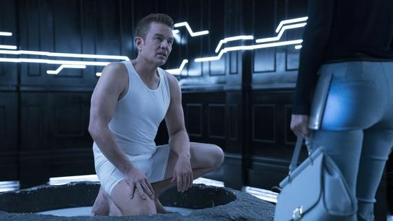 "Runaways -- ""Bury Another"" -- Episode 206 -- While PRIDE grapples with the moral implications of Jonah's latest offer, he takes matters into his own hands and turns on one of PRIDE's own. Will it be Runaways to the rescue? Meanwhile, Nico learns Karolina's terrible secret. Victor Stein (James Marsters), Janet Stein (Ever Carradine) shown. (Photo by: Michael Desmond / Hulu)"