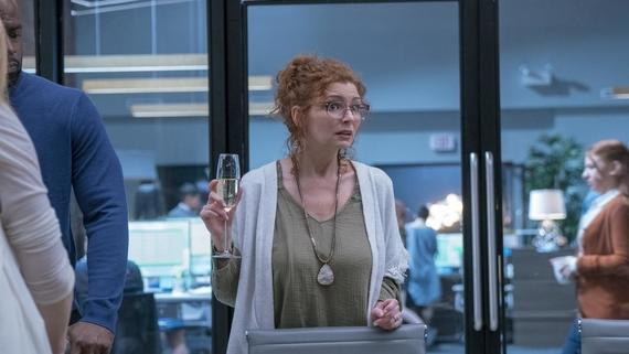 "Runaways -- ""Past Life"" -- Episode 208 -- In the aftermath of an epic battle, Karolina searches for answers while the others help Alex with his vendetta. The truth about Jonah's journey is revealed. Stacey Yorkes (Brigid Brannagh) shown. (Photo by: Michael Desmond / Hulu)"