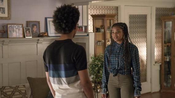 "Runaways -- ""Big Shot"" -- Episode 209 -- The Runaways find themselves on the wrong side of the law. Over the group's objections, Alex tries to scheme his way out of it, but the plan backfires. PRIDE decides that they have to step up their tactics to retrieve their kids. Karolina experiences a mysterious connection. Alex Wilder (Rhenzy Feliz), Livvie (Ajiona Alexus) shown. (Photo by: Michael Desmond / Hulu)"