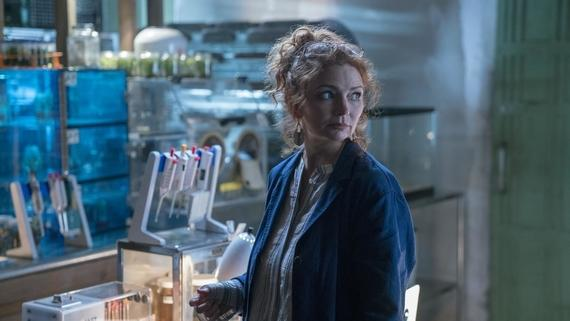 "Runaways -- ""Hostile Takeover"" -- Episode 210 -- Leslie begins dismantling her empire, but not everyone is okay with it. The Runaways try to defend themselves when their new home comes under attack. Victor isn't feeling like himself. Stacey Yorkes (Brigid Brannagh) shown. (Photo by: Michael Desmond / Hulu)"
