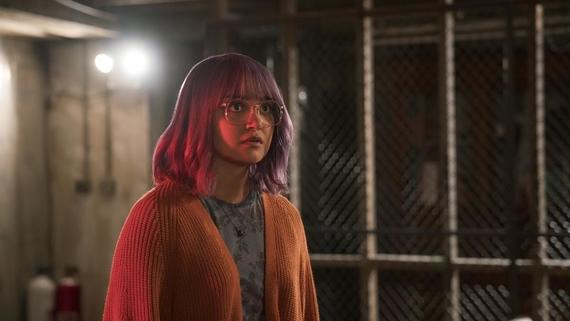 "Runaways -- ""Last Waltz"" -- Episode 211 -- Recovering from their latest challenge, The Runways decide a celebration for one of their own is in order. PRIDE gears up for a fight. Leslie rediscovers her faith, whether she likes it or not. Meanwhile, Karolina's mysterious connection becomes more real. Gert Yorkes (Ariela Barer) shown. (Photo by: Michael Desmond / Hulu)"