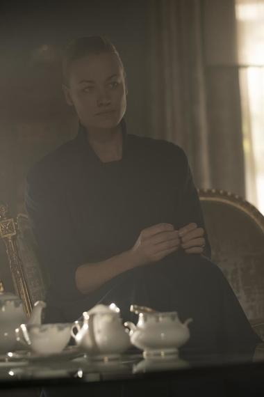 "THE HANDMAID'S TALE -- ""Seeds"" -- Episode 205 -- Offred spirals as a Gilead ceremony disrupts her relationship with Nick. Janine tries to adjust to life in the Colonies, jeopardizing her friendship with Emily. Serena Joy (Yvonne Strahovski), shown. (Photo by: George Kraychyk/Hulu)"