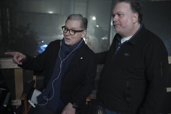 The Handmaid's Tale -- Episode 209 -- Behind the scenes of Executive Producer Warren Littlefield and Creator/Showrunner and Executive Producer Bruce Miller on set of The Handmaid's Tale Season 2 in Toronto, Canada. (Photo by: George Kraychyk/Hulu)