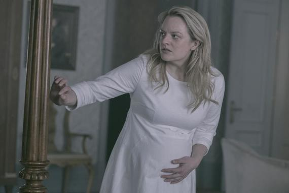"The Handmaid's Tale -- ""The Last Ceremony"" - Episode 210 - A frustrated Serena becomes desperate. The Commander tries to make amends with Offred. Nick pushes Eden farther away. Offred is faced with an unexpected reunion. Offred (Elisabeth Moss), shown. (Photo by: George Kraychyk/Hulu)"