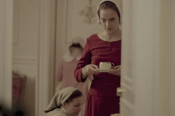 "The Handmaid's Tale -- ""God Bless the Child"" - Episode 304 -- June negotiates a truce in the Waterfords' fractured relationship. Janine oversteps with the Putnam family, and a still-healing Aunt Lydia offers a brutal public punishment. Janine (Madeline Brewer), shown. (Photo by: Elly Dassas/Hulu)"