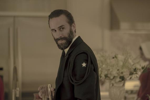 "The Handmaid's Tale -- ""God Bless the Child"" - Episode 304 -- June negotiates a truce in the Waterfords' fractured relationship. Janine oversteps with the Putnam family, and a still-healing Aunt Lydia offers a brutal public punishment. Fred (Joseph Fiennes), shown. (Photo by: Elly Dassas/Hulu)"