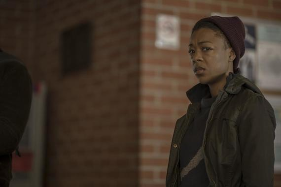 "The Handmaid's Tale -- ""Unknown Caller"" - Episode 305 -- June and Serena grapple with the revelation that Luke is caring for Nichole in Canada, leading to an incident that will have far-reaching ramifications. Moira (Samira Wiley), shown. (Photo by: Elly Dassas/Hulu)"