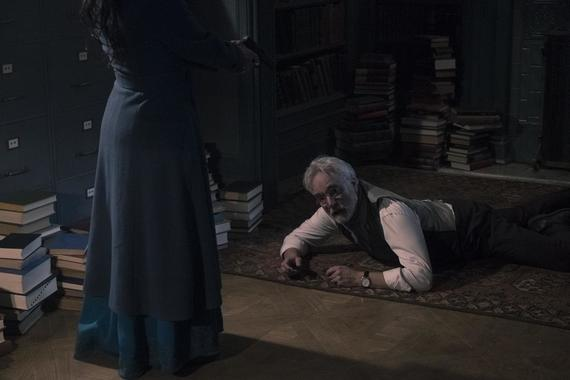 "The Handmaid's Tale -- ""Liars"" - Episode 311 -- June must rely on an unpredictable Commander Lawrence to execute her plan, but a terrifying return to a place from June's past puts everything in jeopardy. Serena Joy and Commander Waterford take a clandestine trip. Joseph (Bradley Whitford), shown. (Photo by: Jasper Savage/Hulu)"