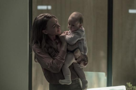 "The Handmaid's Tale -- ""Sacrifice"" - Episode 312 -- Gilead leadership is rocked by losses among their own. Luke and Moira adjust to new arrivals in Canada. June worries about disruptions to her plan, only to have tragedy strike the entire household. Serena (Yvonne Strahovski), shown. (Photo by: Jasper Savage/Hulu)"