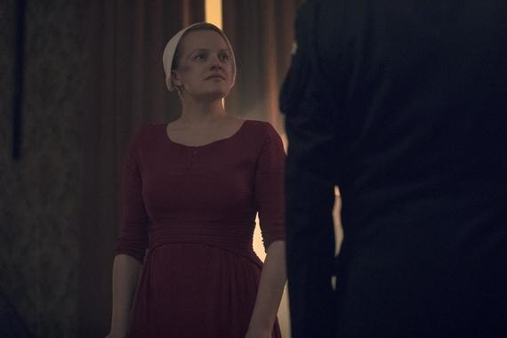 "The Handmaid's Tale -- ""Mayday"" - Episode 313 -- With her plan in place, June reaches the point of no return on her bold strike against Gilead and must decide how far she's willing to go. Serena Joy and Commander Waterford attempt to find their way forward in their new lives. June (Elisabeth Moss), shown. (Photo by: Jasper Savage/Hulu)"