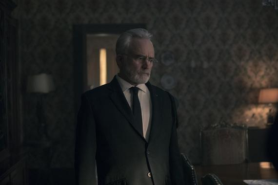"The Handmaid's Tale -- ""Mayday"" - Episode 313 -- With her plan in place, June reaches the point of no return on her bold strike against Gilead and must decide how far she's willing to go. Serena Joy and Commander Waterford attempt to find their way forward in their new lives. Joseph (Bradley Whitford), shown. (Photo by: Jasper Savage/Hulu)"