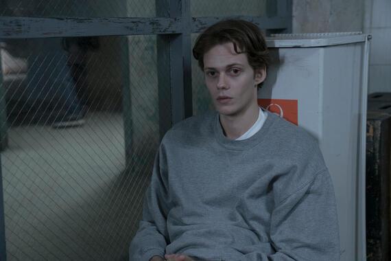 "CASTLE ROCK -- ""Habeas Corpus"" - Episode 102 - Henry gets a new client at Shawshank Prison. Bill Skarsgård, shown. (Photo by: Patrick Harbron/Hulu)"