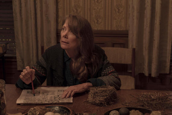"""CASTLE ROCK -- """"Harvest"""" - Episode 105 - A stranger comes to town; Castle Rock honors Sheriff Pangborn. Ruth Deaver (Sissy Spacek) shown. (Photo by: Seacia Pavao/Hulu)"""