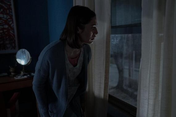 """CASTLE ROCK -- """"Let The River Run"""" - Episode 201 -- A nurse gets waylaid in Castle Rock. Annie (Lizzy Caplan), shown. (Photo by: Dana Starbard/Hulu)"""