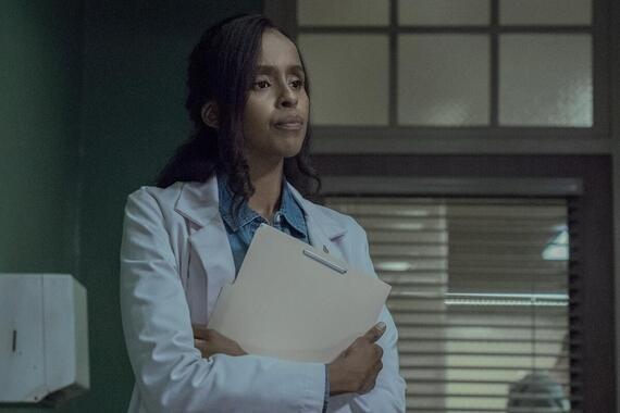 """CASTLE ROCK -- """"Restore Hope"""" - Episode 204 -- Nadia learns a dark truth about her past Dr. Nadia Omar (Yusra Warsama), shown. (Photo by: Dana Starbard/Hulu)"""