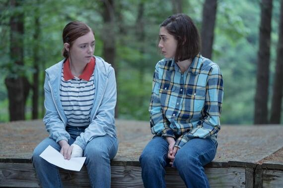 """CASTLE ROCK -- """"The Mother"""" - Episode 206 -- A familiar face arrives in Castle Rock. Joy (Elsie Fisher) and Annie (Lizzy Caplan), shown. (Photo by: Dana Starbard/Hulu)"""