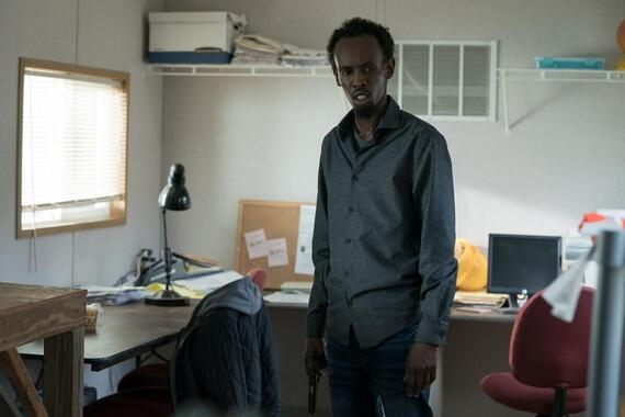 """CASTLE ROCK -- """"The Word"""" - Episode 207 -- An angel watches over this place. Abdi (Barkhad Abdi), shown. (Photo by: Dana Starbard/Hulu)"""