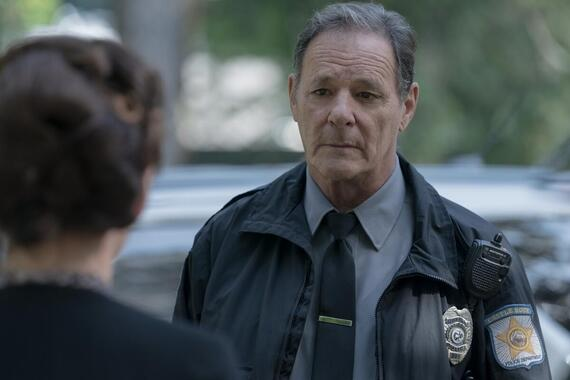 """CASTLE ROCK -- """"Dirty"""" - Episode 208 -- Annie sees things for what they are. Deputy Clay (Chris Mulkey), shown. (Photo by: Dana Starbard/Hulu)"""
