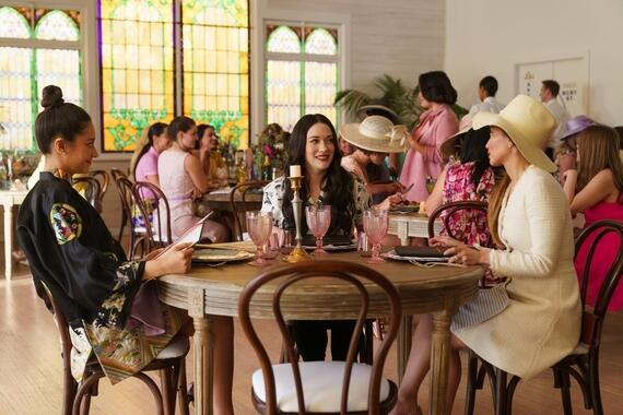 "Dollface -- ""Homebody"" - Episode 102 -- Jules goes to her girlfriends for advice about moving out of her ex's place, but finds navigating which friend's advice to take an even more complicated problem. Stella (Shay Mitchell), Jules (Kat Dennings), and Madison (Brenda Song), shown. (Photo by: Aaron Epstein/Hulu)"