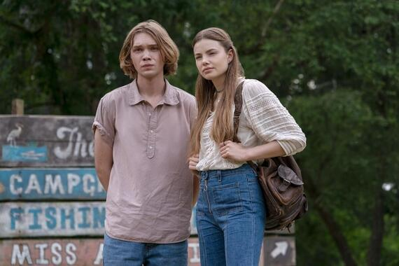 "Looking For Alaska -- ""The Nourishment is Palatable"" - Episode 104 -- Despite the warnings of his friends, Miles agrees to spend Thanksgiving with Alaska at Culver Creek. But a trip to the Colonel's home for the holiday, designed to bring everyone together, only leaves our group further apart. Miles (Charlie Plummer) and Alaska (Kristine Froseth), shown. (Photo by: Alfonso Bresciani/Hulu)"