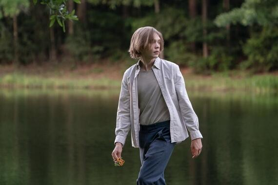"Looking For Alaska -- ""I'll Show You That It Won't Shoot"" - Episode 105 -- After the Weekday Warriors go too far, Miles, Takumi, the Colonel and Alaska decide to reunite for revenge. After a wine soaked game of Best Day/Worst Day, new secrets are revealed and a new romance blossoms. Miles (Charlie Plummer), shown. (Photo by: Alfonso Bresciani/Hulu)"