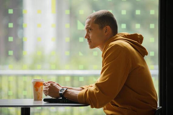 "DEVS ""Episode 5"" (Airs Thursday, March 26) -- Pictured: Karl Glusman as Sergei. CR: Raymond Liu/FX"