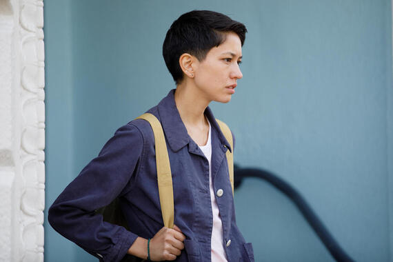 "DEVS ""Episode 8"" (Airs Thursday, April 16) -- Lily arrives for her final confrontation with Forest and Katie. Pictured: Sonoya Mizuno as Lily. (Photo by: Raymond Liu/FX)"