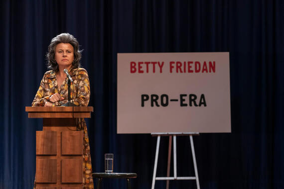 "MRS. AMERICA -- ""Betty"" --Episode 4 (Airs April 22) Pictured: Tracey Ullman as Betty Friedan. CR: Sabrina Lantos/FX"