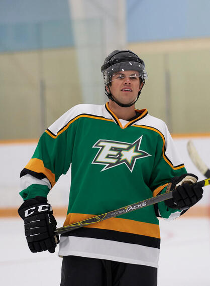 """Letterkenny - """"National Senior Hockey Championship"""" -- Episode 802 -- The Hicks continue to be there for their friend. The Hockey Players play Quebec. Stewart learns how to fight. Jones (Andrew Herr), shown. (Photo by Hulu)"""