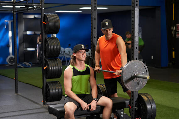 "Letterkenny - ""Ferda "" -- Episode 804 -- The Hockey Players start a club for men. The skids go to the city. Reilly (Dylan Playfair) and Jonesy (Andrew Herr), shown. (Photo by Hulu)"
