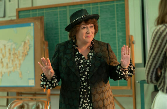 "MRS. AMERICA -- ""Bella"" --Episode 7 (Airs May 13) Bella is put in charge of the first ever government-funded National WomenÕs Conference. Phyllis and her women clash over how to best disrupt the conference. Written by Micah Schraft; Directed by Anna Boden & Ryan Fleck. Exclusively FX on Hulu. Pictured: Margo Martindale as Bella Abzug. (Photo by Sabrina Lantos/FX)"