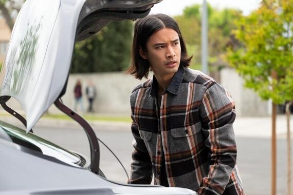 "Light as a Feather -- ""...Silent as the Night"" - Episode 205 -- McKenna has an unfortunate run-in. Violet and Alex try to find out more about the Light As A Feather game. Trey (Jordan Rodrigues), shown. (Photo by: Alex Lombardi/Hulu)"