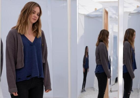 "Light as a Feather -- ""...White as a Ghost"" - Episode 208 --The girls have a new lead that could fix all their problems -- but to see it through, they will have to risk it all. McKenna (Liana Liberato), shown. (Photo by: Alex Lombardi/Hulu)"