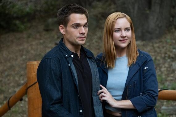 "Light as a Feather -- ""…Thick as Thieves"" - Episode 213 - As the friends turn to an unlikely source for help, one is forced to confront her greatest fear. Henry (Dylan Sprayberry) and Violet (Haley Ramm), shown. (Photo by: Alex Lombardi/Hulu)"