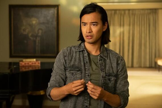 "Light as a Feather -- ""...Quiet as a Tomb"" - Episode 215 - McKenna pressures a friend to deliver on a deadly promise. Trey (Jordan Rodrigues), shown. (Photo by: Alex Lombardi/Hulu)"